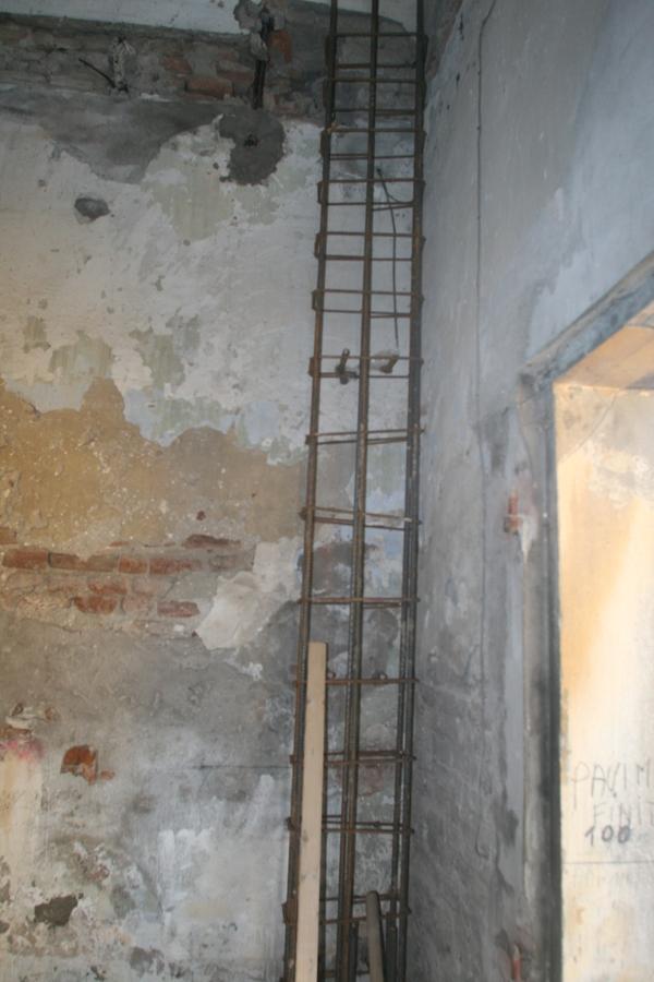 armatura colonna interna in cemento armato