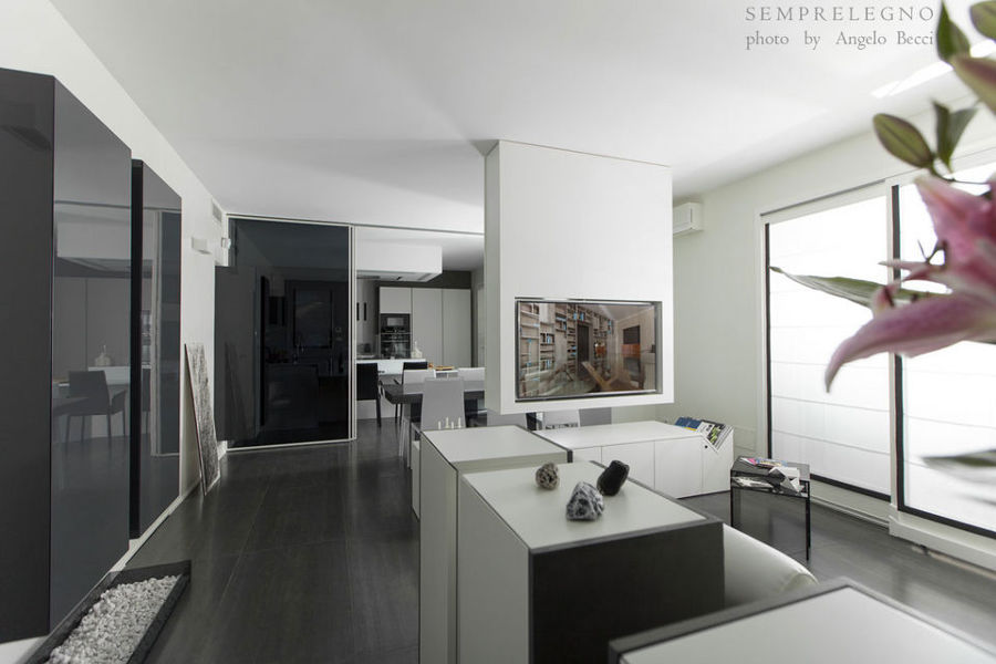 Arredamenti su misura per soggiorno moderno