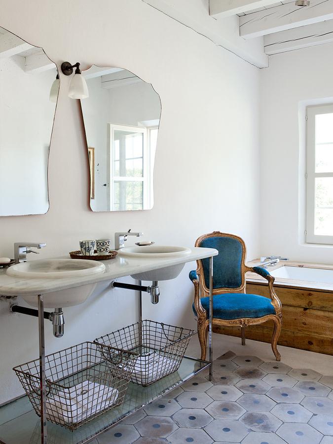 Foto arredamento bagno casa in campagna di valeria del for Immagini di arredamento casa