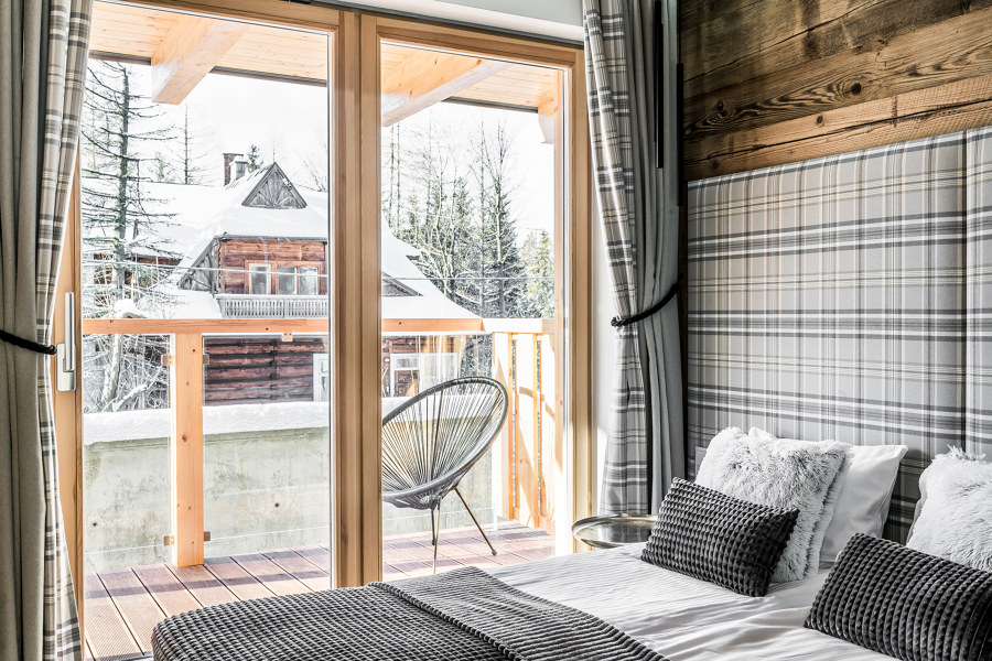 arredamento camera da letto in montagna
