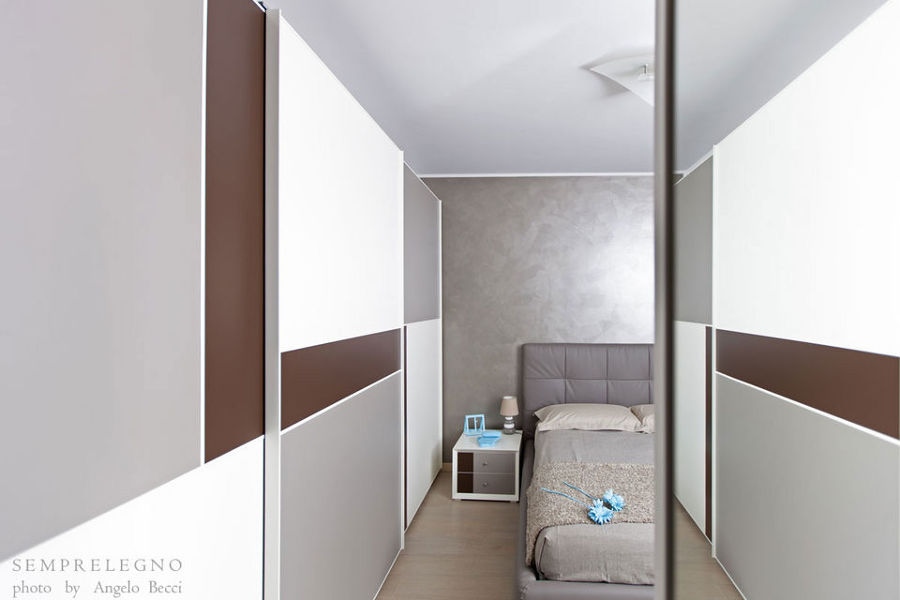 Arredamento per camera da letto moderna e armadio su misura
