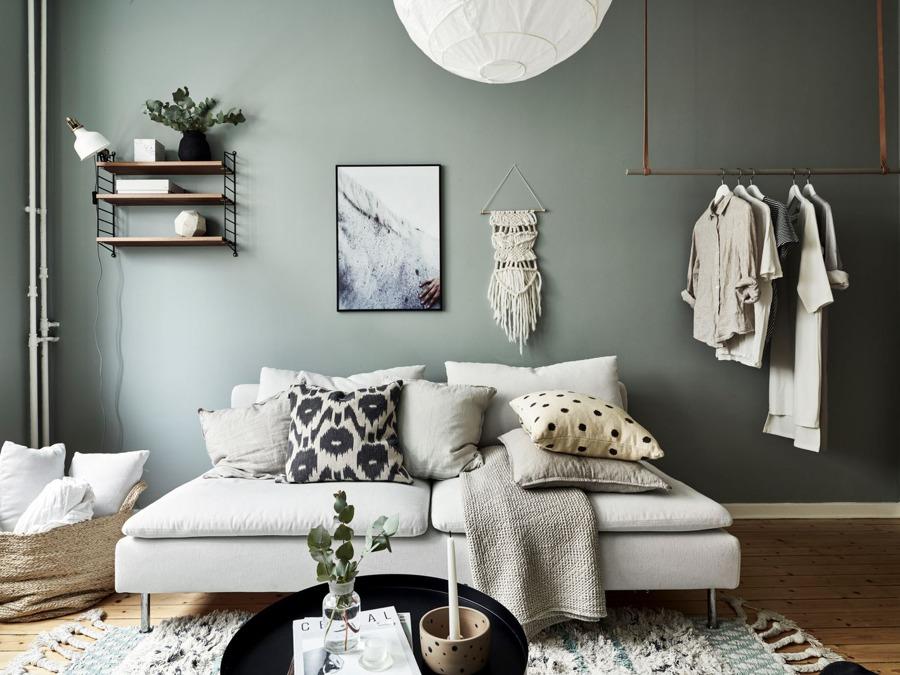 Arredamento piccolo salotto stile nordico