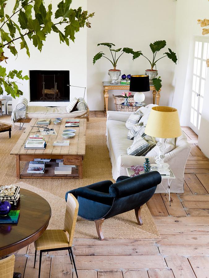 arredamento soggiorno casa rurale