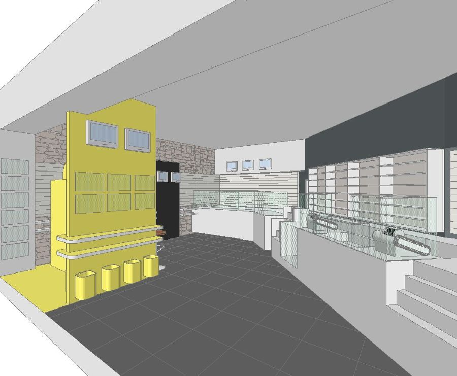 Progetto arredo tabaccheria progetti mobili for Arredo tabaccheria
