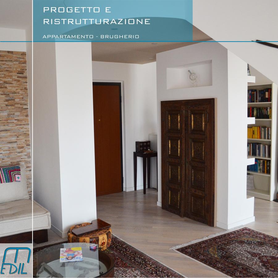 Progetto ristrutturazione appartamento su due livelli in for Idee seminterrato a due livelli