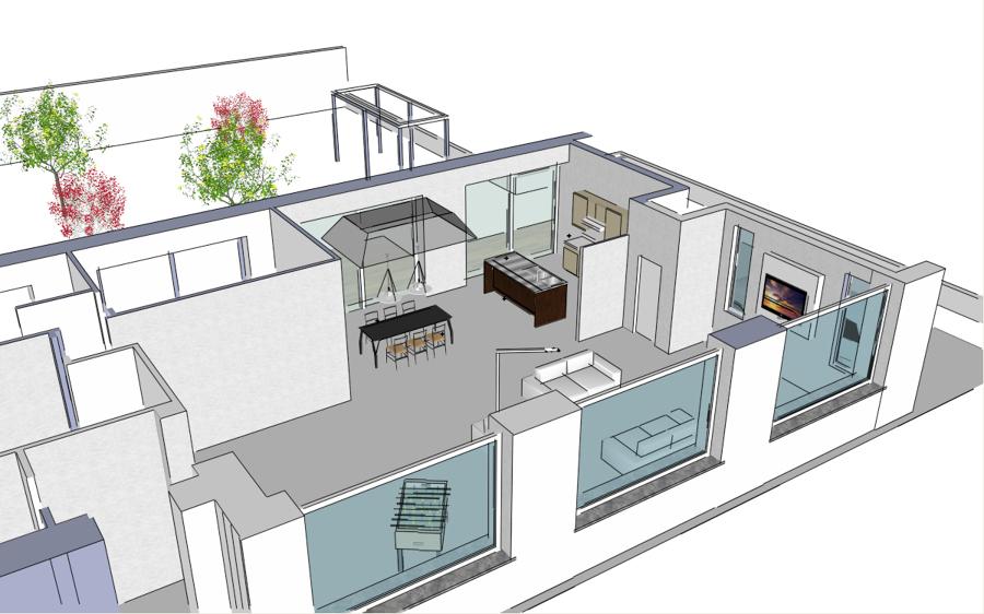 Foto assonometria di progetto di studio architetto sessa for 2 piani di cabina di ceppi di storia