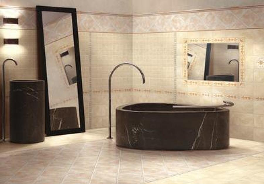 idee per una stanza da bagno nordica con ante lisce ante in legno chiaro. foto di una stanza da ...