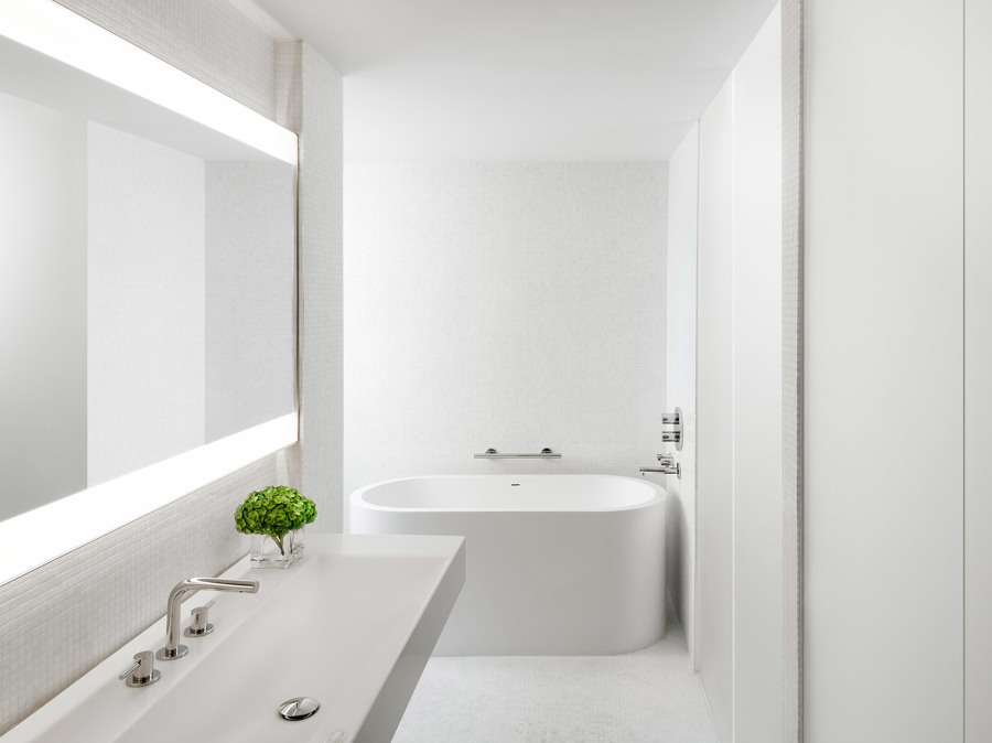 bagno bianco minimal