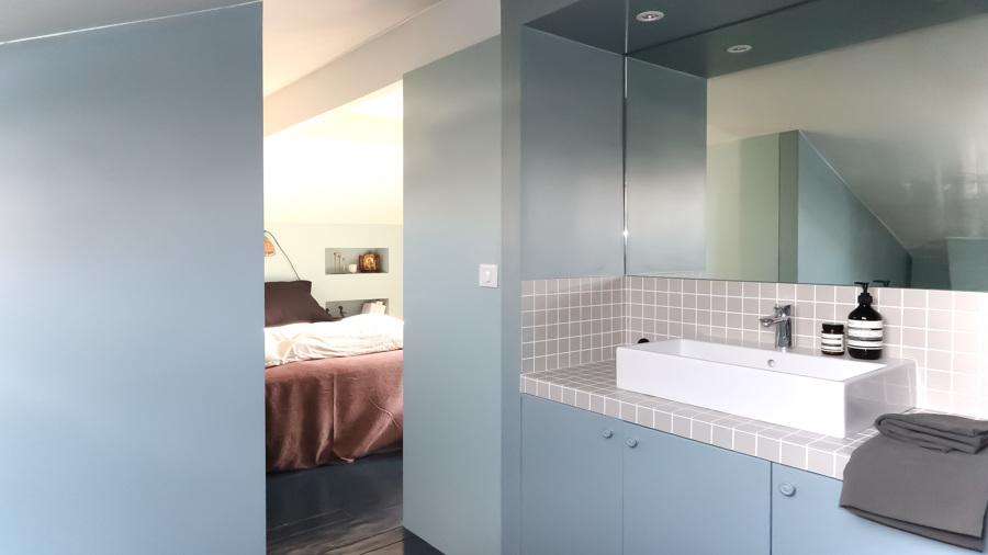 Ricavare un bagno in pi idee ristrutturazione bagni - Camera da letto con bagno ...