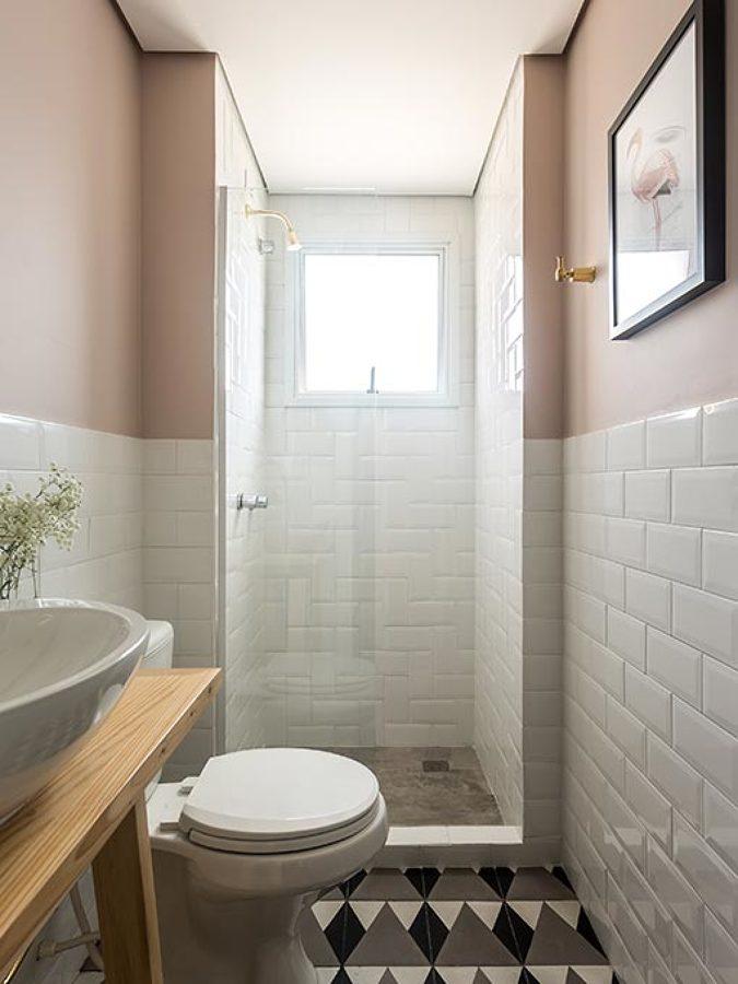 Foto bagno con piastrelle metro 39 di rossella cristofaro 408540 habitissimo - Piastrelle bianche bagno ...