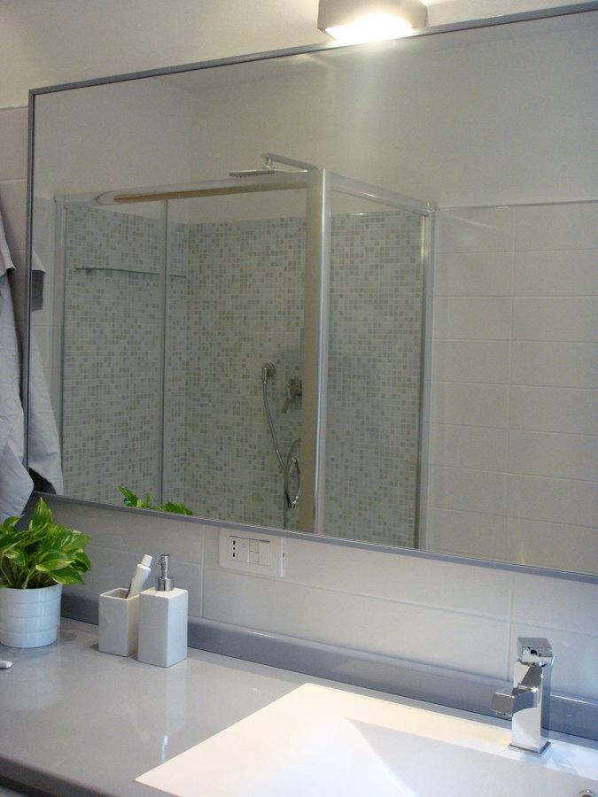 bagno doccia con mosaico