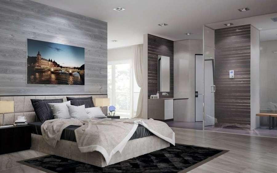 bagno in camera con pareti di cristallo