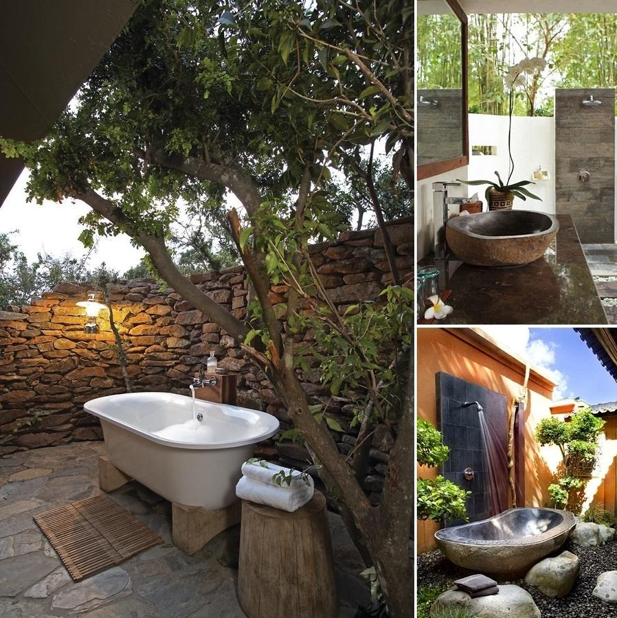bagno in giardino