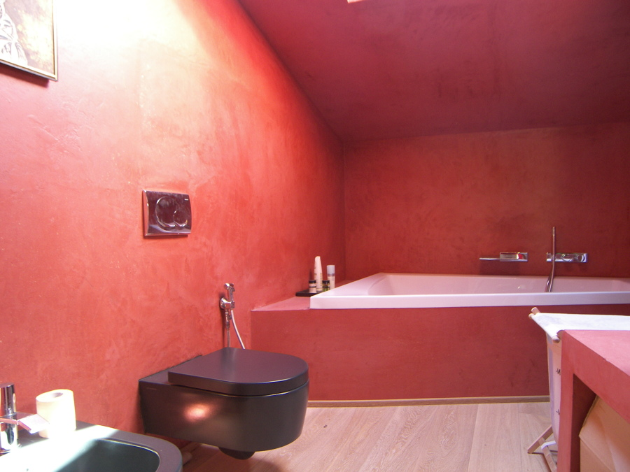 Progetto tinteggiatura di una casa a verona vr idee imbianchini - Bagno cemento spatolato ...