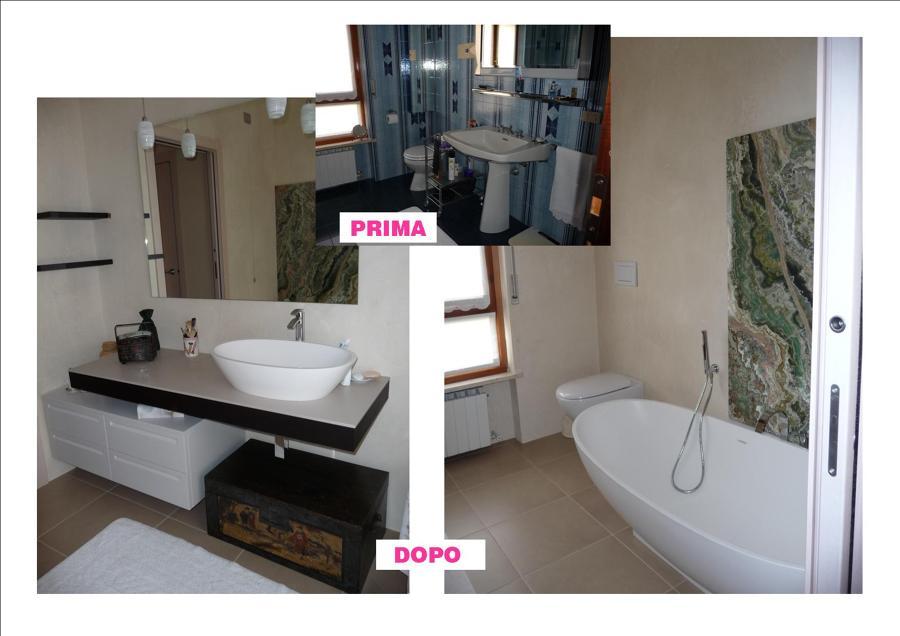 Progetto ristrutturazione appartamento idee - Bagno padronale ...