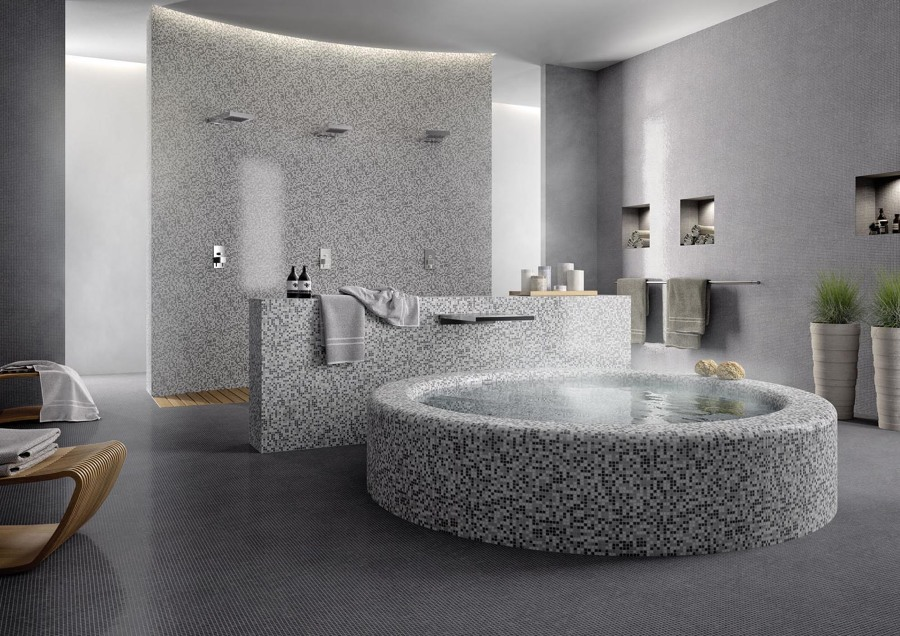 Mosaico nel bagno tutta la guida per arredare un bagno - Posa mosaico bagno ...