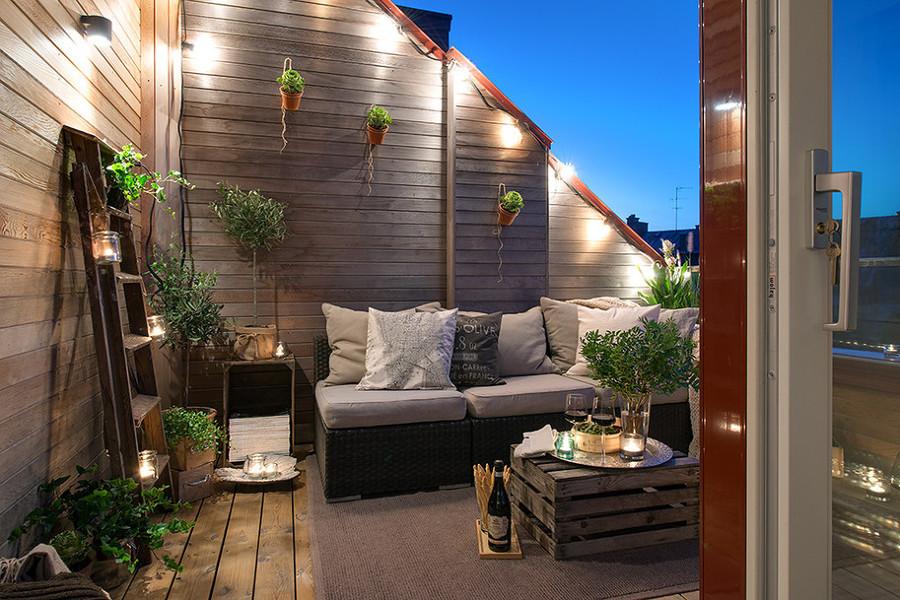 balcone stile nordico