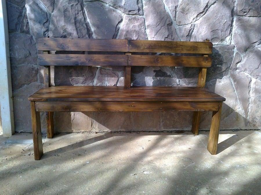 Amato Come Costruire una Panchina di Legno Per la Veranda | Idee Mobili VA07