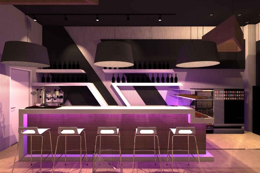 Foto bancone bar design torino barcellona studioayd di for Bancone bar per casa