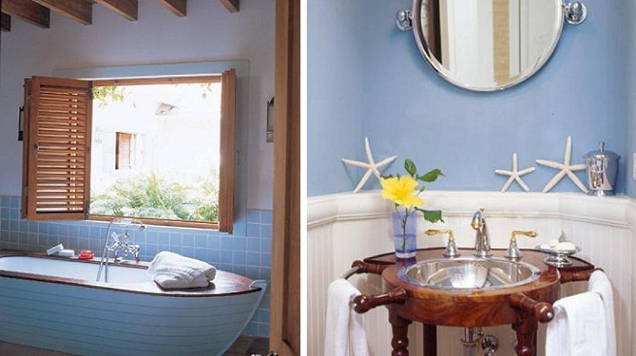 Come arredare il bagno in stile nautico idee interior - Banos pequenos con estilo ...