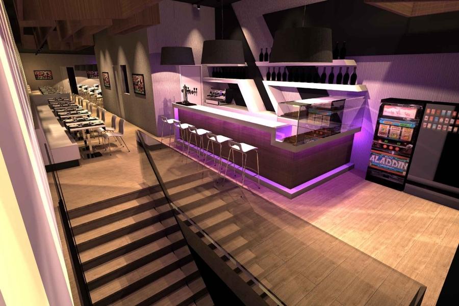 Foto bar arredo interni torino barcellona studioayd di for Arredo bar lecce