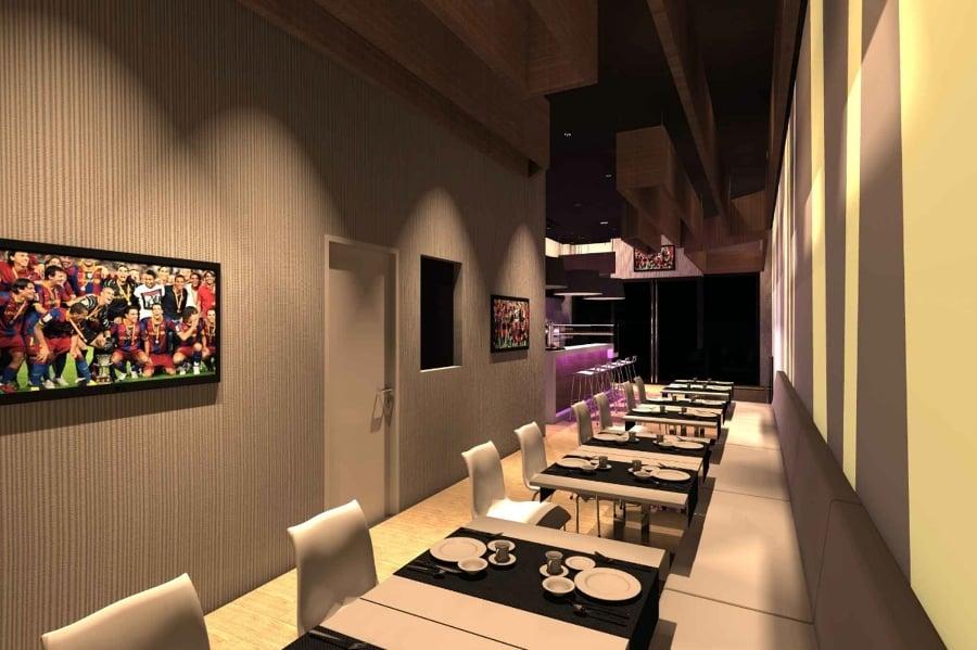 Foto bar ristorante arredo design torino barcellona for Arredo interni moderno