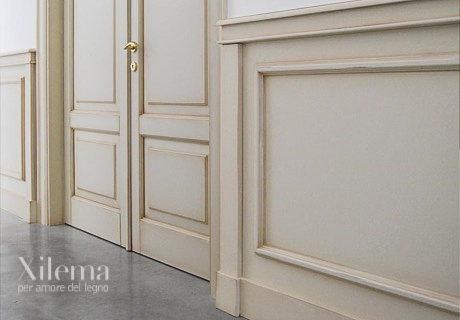 Boiserie in legno artigianali idee falegnami - Boiserie camera da letto ...