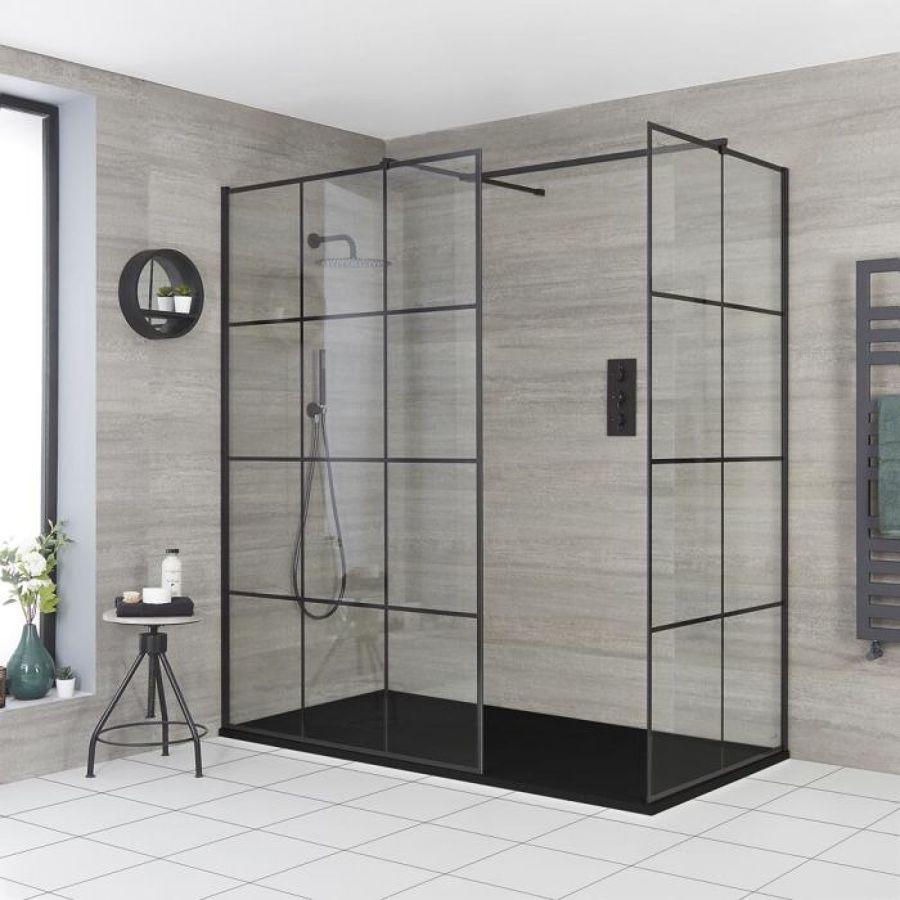 Box doccia con profili neri