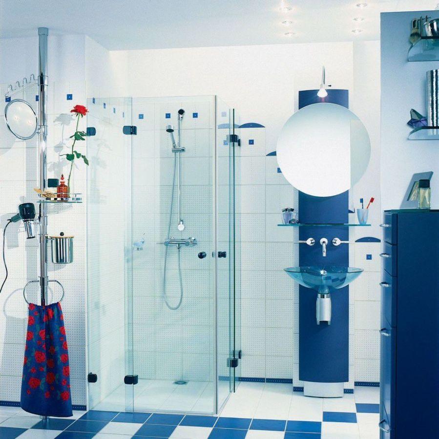Foto box doccia in vetro bagno blu di marilisa dones 378521 habitissimo - Box doccia vetrocemento ...