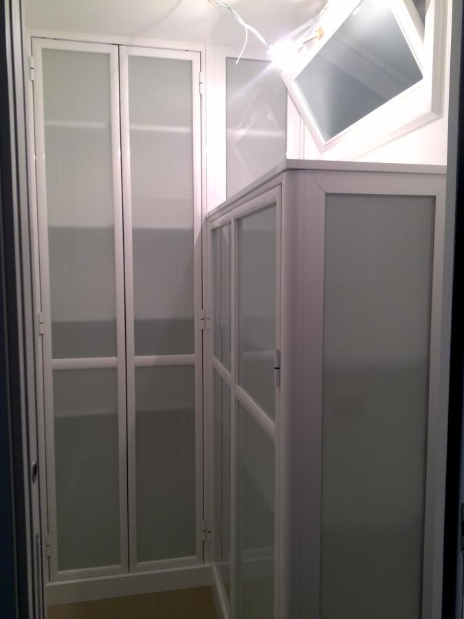 Cabina armadio in alluminio e vetro