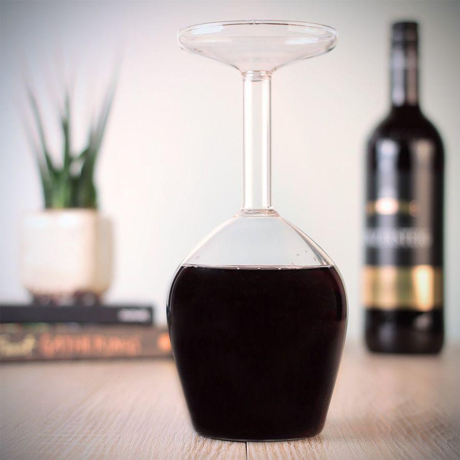 Calice vino invertito