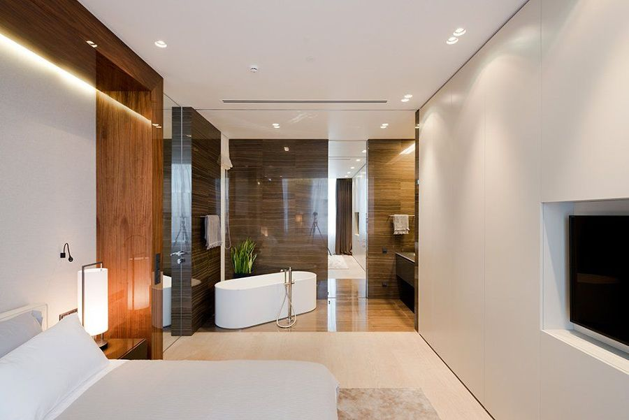Camera con bagno a vista