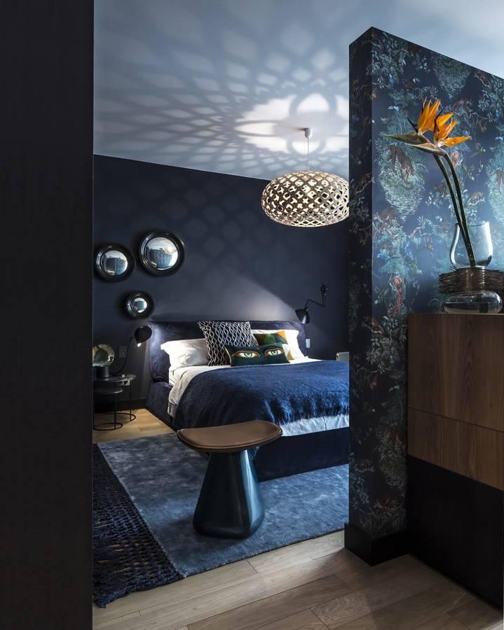 8 camere da letto tutto meno che anonime | idee interior designer - Camera Da Letto Blu Notte