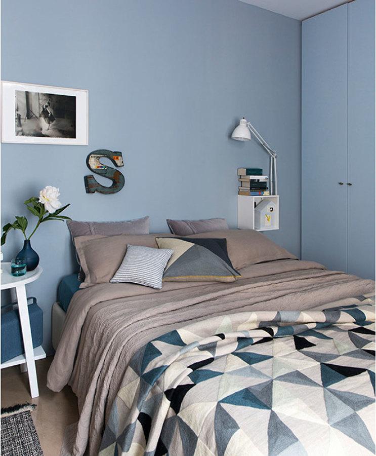 Foto camera da letto con pareti azzurre di rossella cristofaro 650784 habitissimo - Camera da letto gialla ...