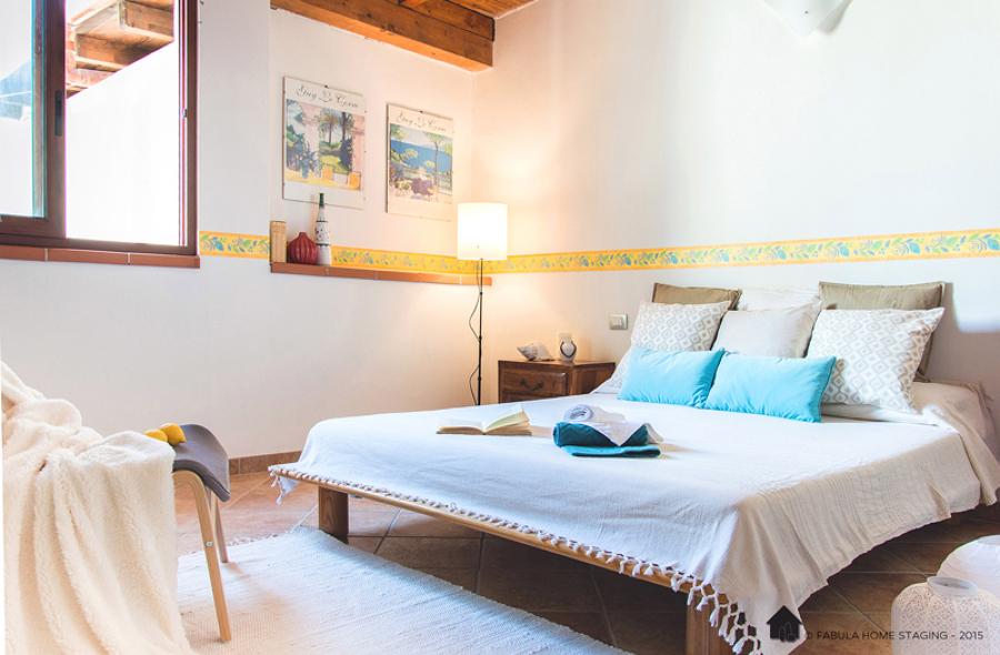 Camera da letto - home staging sardegna