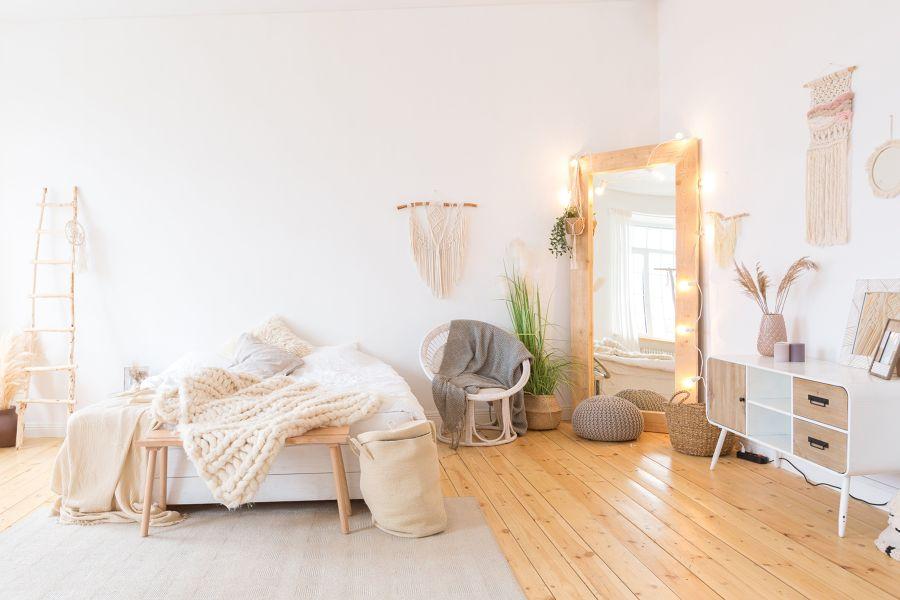 camera da letto in stile boho