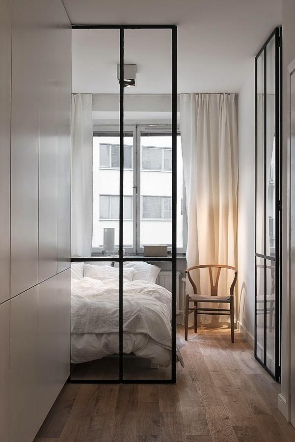 camera da letto porta vetro