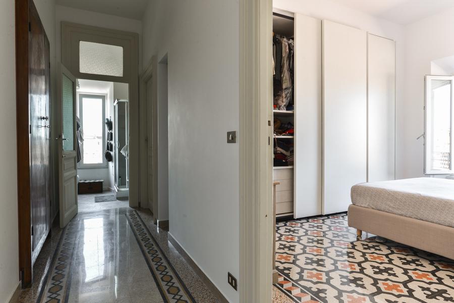 camera e corridoio