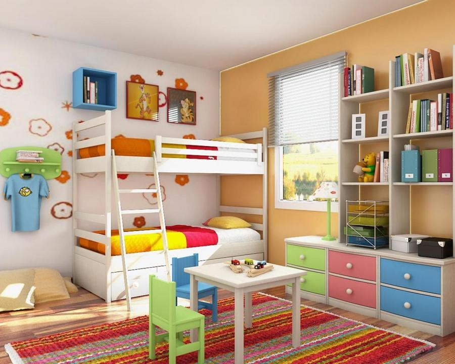 Foto camera per bambini con letto a castello di valeria - Camera per bambina ...