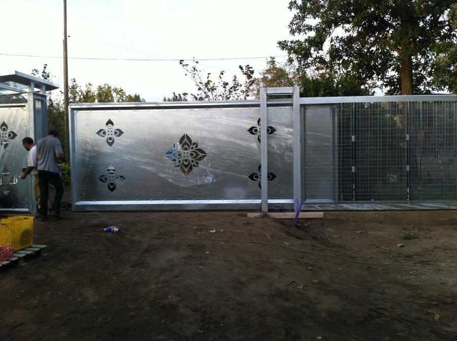 Favorito Foto: Cancello Scorrevole con Pilastratura In Travi di Edilsider  KU62