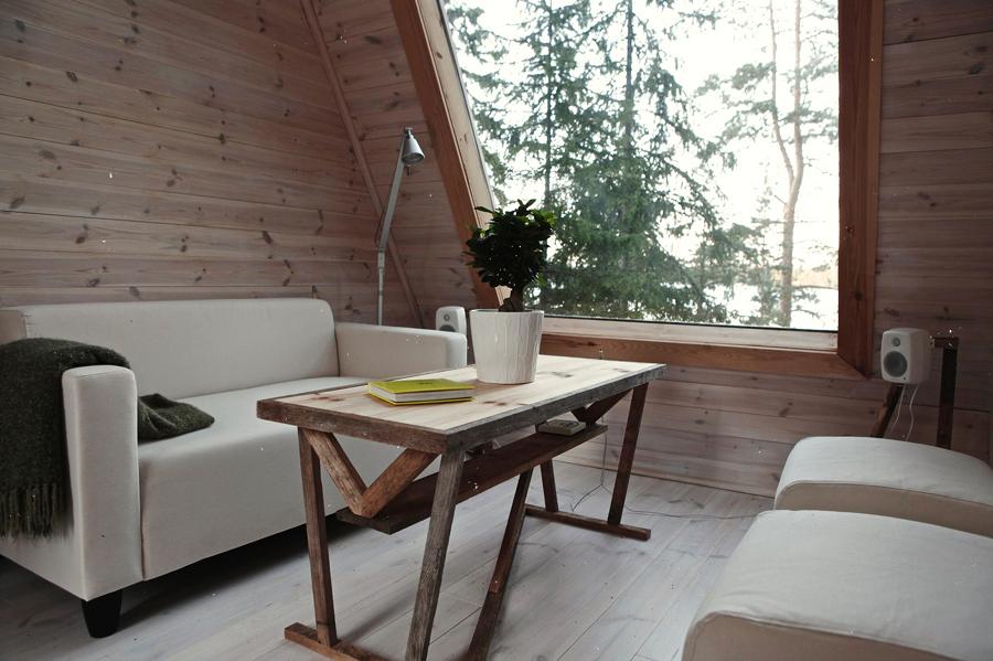capanna di legno di nove metri