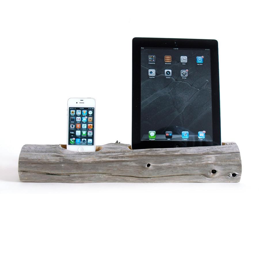 caricatore legno 334740 10 e più accessori fantasiosi per iPhone 4, 5, 6 e iPad