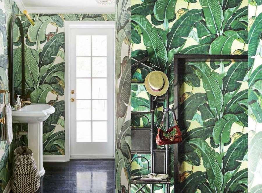 Benvenuto autunno arrediamo casa con le foglie idee interior designer - Carta da parati lavabile per bagno ...