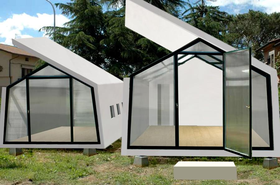 Progetto costruzione casa bioclimatica con serra idee for Architettura temporanea
