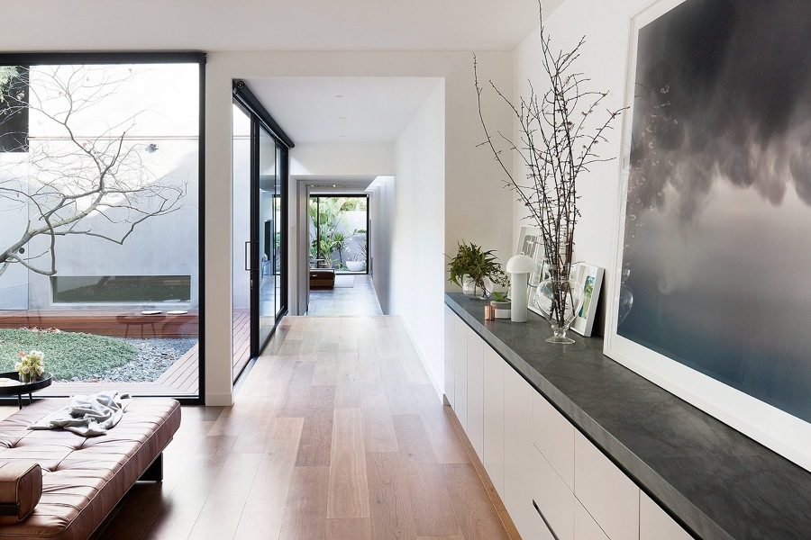 Casa con patio interno