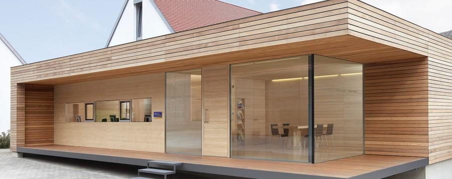 Case Legno Design Moderno.Minibar In Legno Per Casa La Luminosa Casa In Legno