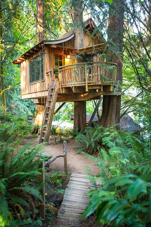casa sull'albero stile rustico