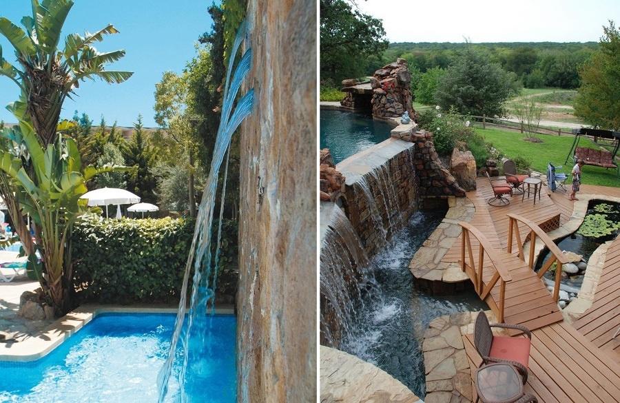 Cascate per piscine quando la bellezza va a braccetto con - Cascate per giardino ...