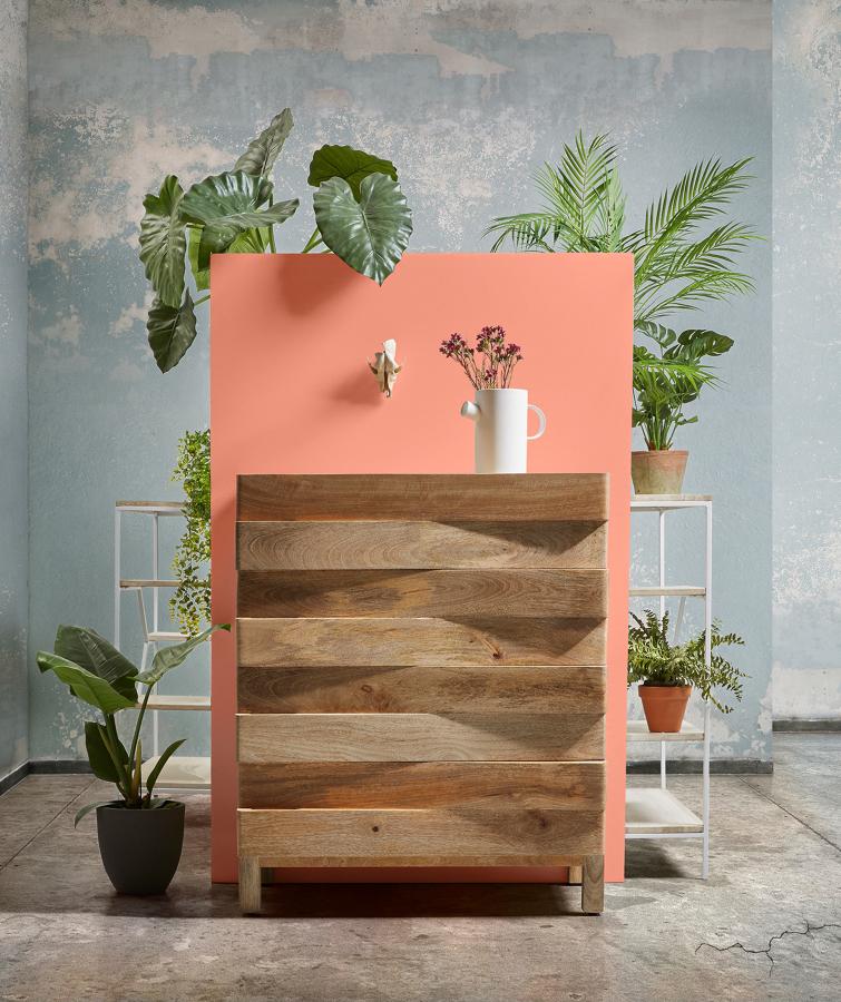 Cassettiera in legno effetto naturale