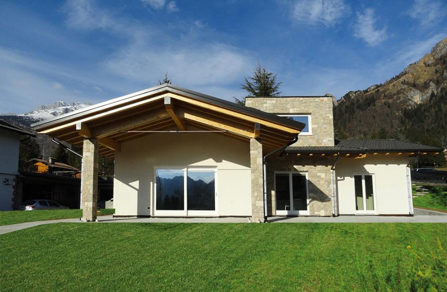 Villa a castione della presolana bg progetto geom for Progetti di case in campagna
